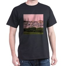 Wychmere Harbor Sunrise Black T-Shirt