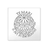 Temari Art in the Round Square Sticker