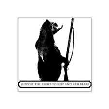 Keep and Arm Bears Square Sticker