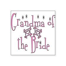 Grandma of the Bride Square Sticker