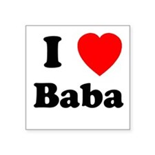 I heart Baba Square Sticker