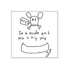 Canoe Pirate Square Sticker