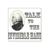 Adam Smith Invisible Hand Square Sticker