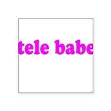 Tele Babe Square Sticker