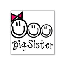 Big Sis of Three Square Sticker
