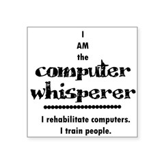 Computer Whisperer Square Sticker