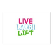 Live Laugh Lift Postcards (Package of 8)