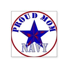 Proud Navy Mom Square Sticker