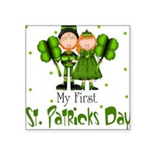 My first St. Patrick's Day Baby Square Sticker