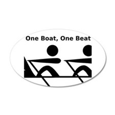 One Boat, One Beat 22x14 Oval Wall Peel