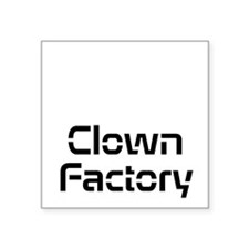 Clown Factory Square Sticker