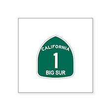 Big Sur, California Highway 1 Square Sticker