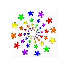 Rainbow Spiral Square Sticker
