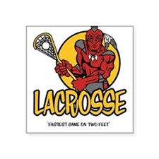 Lacrosse-Fastest Game Square Sticker