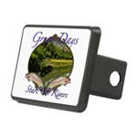 trout fishing Rectangular Hitch Cover