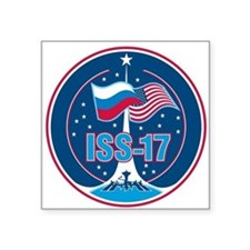 ISS Expedition 17 Square Sticker