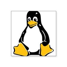 Tux the Penguin Square Sticker