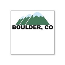 Boulder, CO Square Sticker