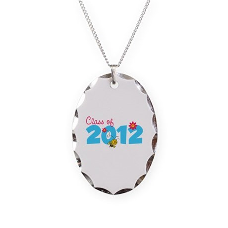 Class of 2012 Necklace Oval Charm
