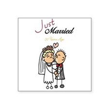 Just Married 50 years ago Square Sticker