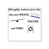 Agility Trainers Square Sticker