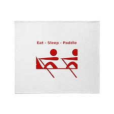 Eat - Sleep - Paddle Throw Blanket
