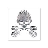 BARBELL CROSSBONES Square Sticker