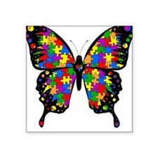 Autism Butterfly Square Sticker