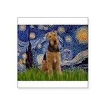 Starry - Airedale #1 Square Sticker 3