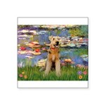 Lilies#2 & Airedale (S) Square Sticker 3