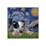 Starry-AussieCattleDogPup Square Sticker 3