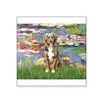 Lilies2-Australian Shep (#5) Square Sticker 3