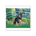Bridge-Aussie Shep - Tri (L) Square Sticker 3
