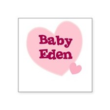 Baby Eden Creeper Square Sticker
