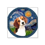 Starry Night Beagle #1 Square Sticker 3