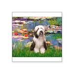 Lilies / Beardie #1 Square Sticker 3