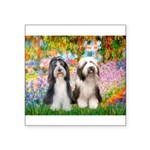 Garden / 2 Bearded Collie Square Sticker 3