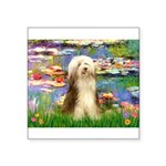 Lilies / Bearded Collie Square Sticker 3