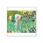 Irises /Bedlington T Square Sticker 3