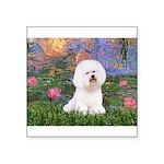 Lilies 4 / Bichon 1 Square Sticker 3