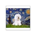 Starry Night Bichon Square Sticker 3