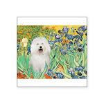 Irises & Bolognese Square Sticker 3