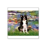 Lilies & Border Collie Square Sticker 3