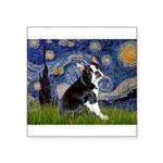 Starry Night Boston Ter Square Sticker 3