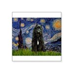 Starry Night Bouvier Square Sticker 3