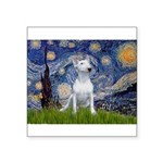 Starry/Bull Terrier (#4) Square Sticker 3