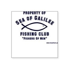 Sea of Galilee Fishing Club Square Sticker