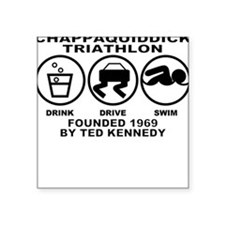 Chappaquiddick Triathlon Square Sticker