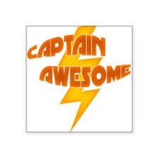 Captain Awesome (Men's Square Sticker)