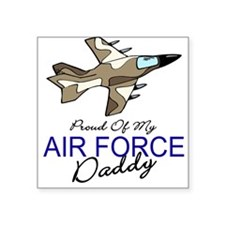 Air Force Daddy Square Sticker